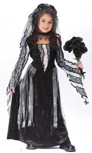 Black Rose Witch Child Costume M