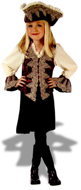 Pirate Lady Deluxe Child Costume Size L