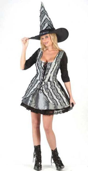 Gothic Rose Witch Costume. SM