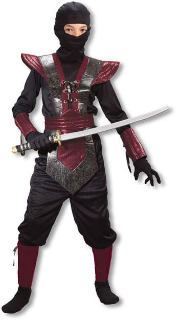 Ninja Fighter Kids Costume red L
