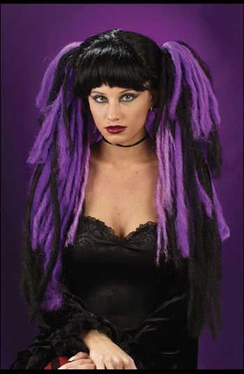 Gothic Witch Wig Red