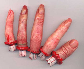 5 separated realistic finger