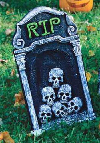 Small grave stone with Skull 40cm