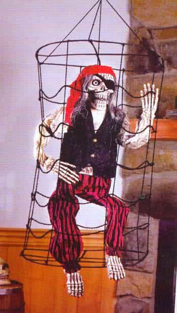 Pirate Skeleton in a Cage