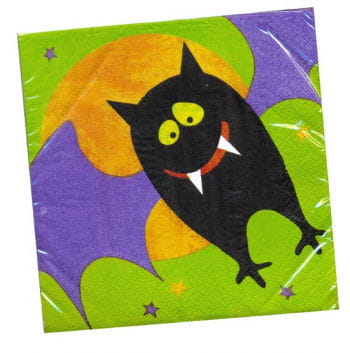 Happy Halloween bat napkins