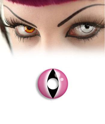 Contact Lens Pink Cat Eye