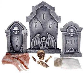 Friedhofs und Grabstein Set 10 tlg.
