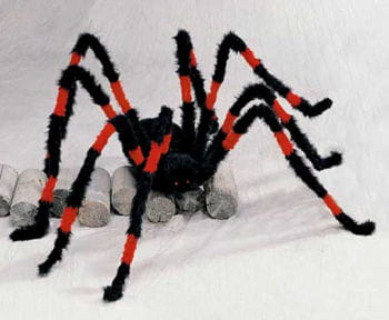 Riesen Monster Spinne Rot / Schwarz 140cm