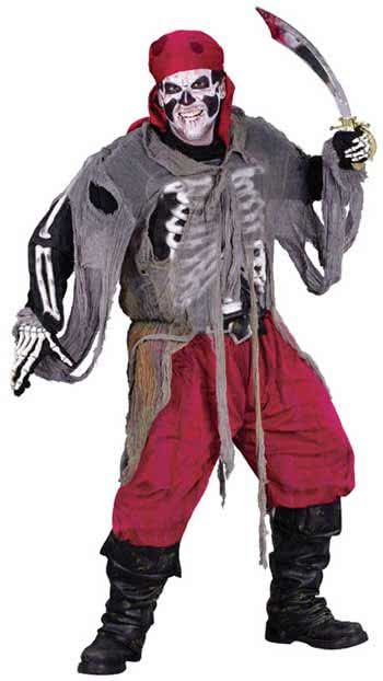 3D Zombie Pirate Costume