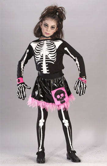 Punk Skeleton Princess Child Costume. S