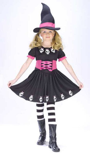 Skull Witch Child Costume Size L