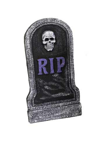 Grave stone Rest in Peace 54cm purple