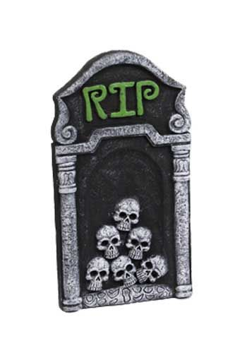 Grave stone Rest in Peace 54cm green