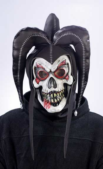 Jester Clown Mask Black