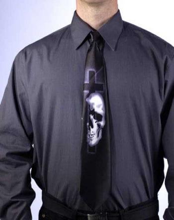 Black Horror Tie Skull