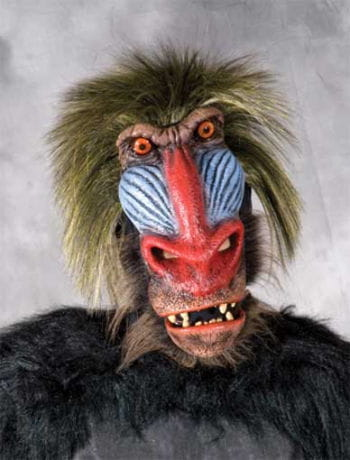 Pavian Affen Maske