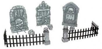 Zombie Cemetary Scene Table Deco 12PCS