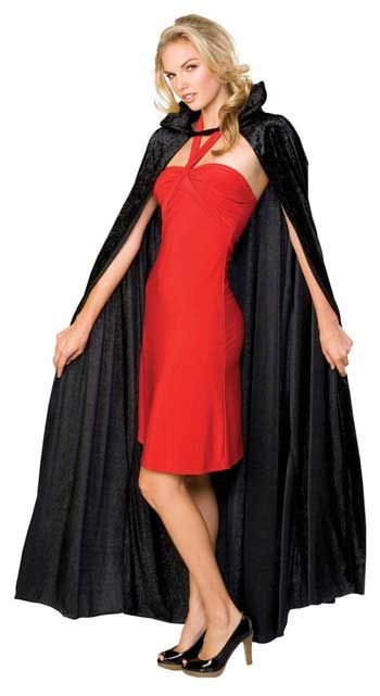Dracula Cape Black Velvet Crush