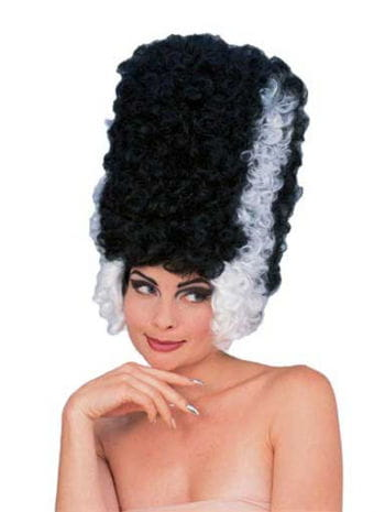 Frankenstein Monster Bride Wig black / white