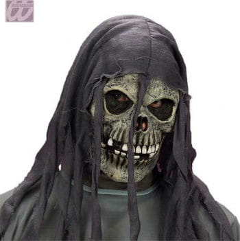 Ragged skeleton Mask Grey