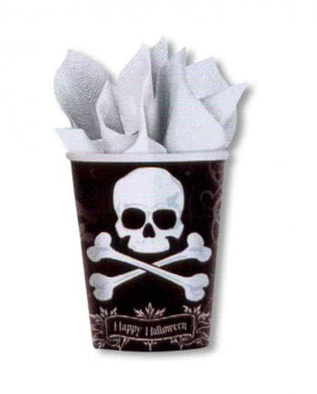 Paper cup with black skull 18 St