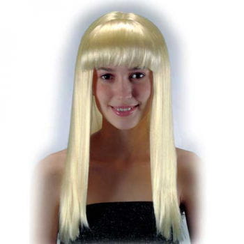 Long-haired wig with bangs Blonde