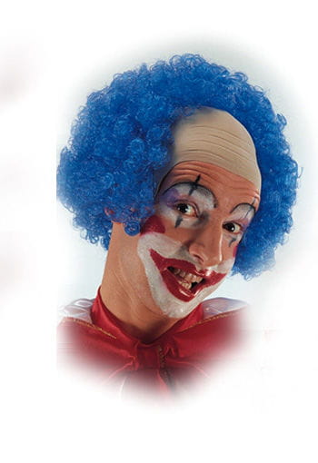 Clown bald with blue curls