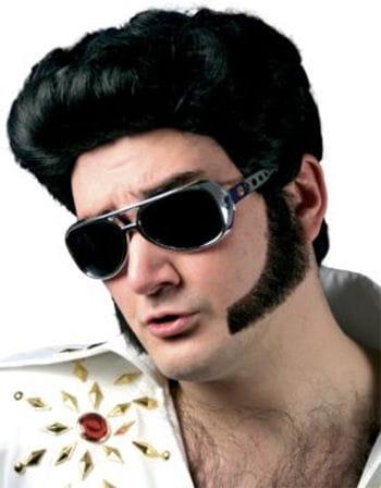 Big Sideburns real hair black
