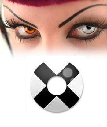 Schwarz Weiß Kontaktlinse X