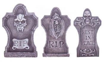 3 Piece Set grave stone 50 cm