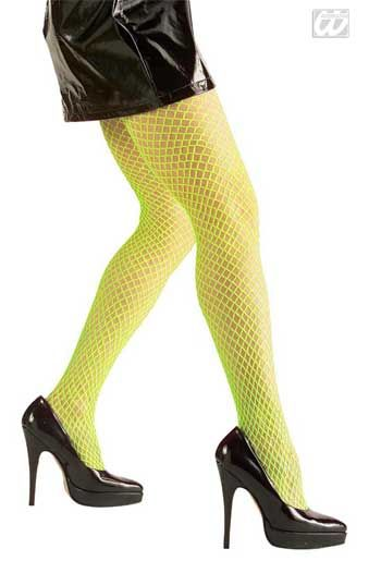 Fish Net Tights Neon Green