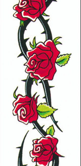 tattoo rosen und dornenkranz faschings tattoos zum. Black Bedroom Furniture Sets. Home Design Ideas