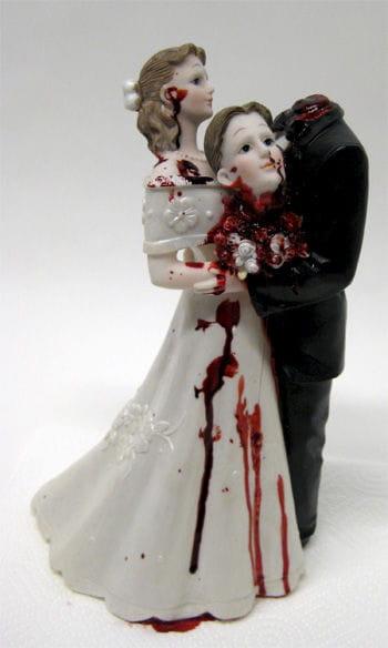 Brautpaar mit geköpftem Bräutigam 31cm deluxe