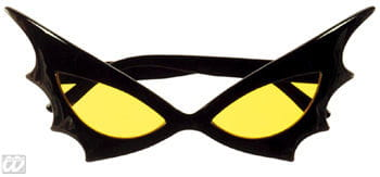 Bat Woman sunglasses yellow glass