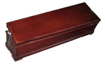 Italian Coffin Rosewood Coloured