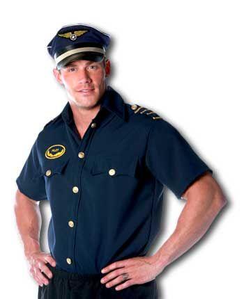 Pilot Shirt Costume Size L