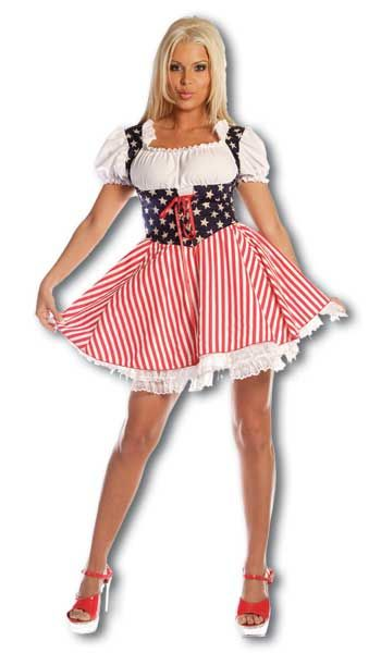 Cheerleader Stars and Stripes Costume. S / 36-38