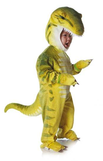 Dino Rex Costume Green S