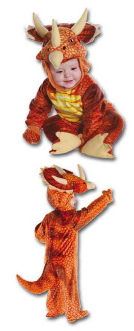 Three Horn Dino costume red M