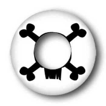 Contact lens Skull and bones