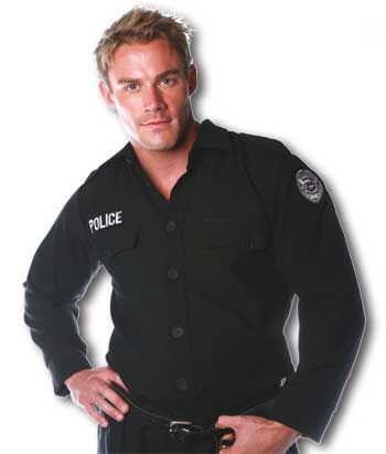 Police Shirt Costume. L