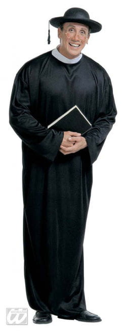Priest Monsignor Costume black Gr. xl