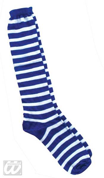 Striped Striped Socks Blue White