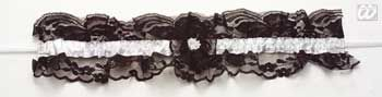 Sexy lace garter black / white
