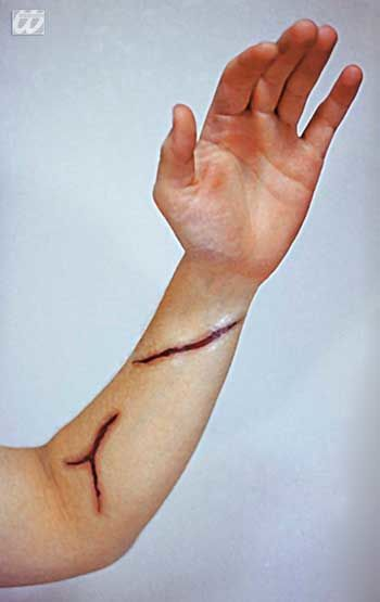 Wound Tattoo Cuts 4