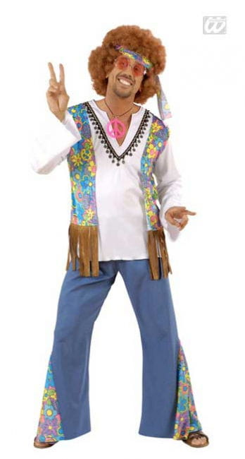 Hippie Male Costume Size S