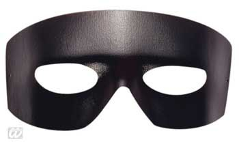 Zorro mask in leather optics