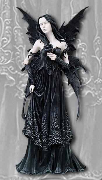 Dark Fairy Dark Rose Collectors Figurine