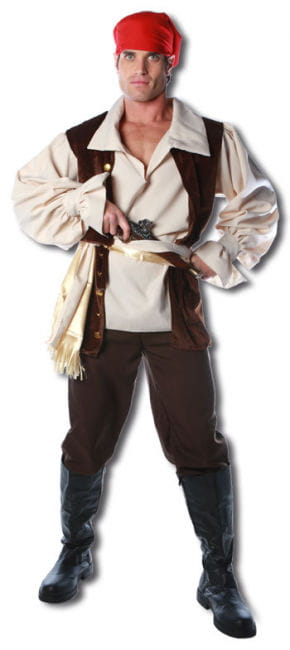 Caribbean pirate Premium Costume One Size