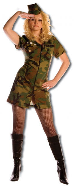 Hot Army Girl Premium Costume XL